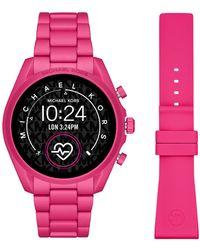 Michael Kors Bradshaw Gen 5 Display Smartwatch Mkt5099 - Roze