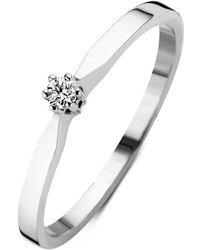 Diamond Point Witgouden Solitair Groeibriljant Ring, 0-04 Ct - Meerkleurig