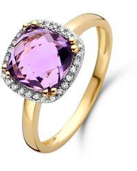 Diamond Point Geelgouden Ring 2-54 Ct Amethist Fiësta - Metallic