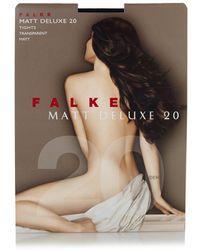 Falke Matt Deluxe Panty In 20 Denier Marine - Meerkleurig