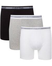 Calvin Klein 3-pack Boxer Brief Boxershorts - Zwart