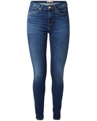 Tommy Hilfiger Heritage High Waist Skinny Fit Jeans Met Stretch - Blauw