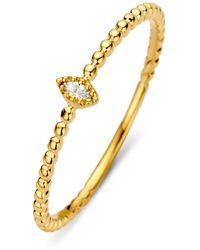 Diamond Point Geelgouden Ring 0-04 Ct Diamant Joy - Metallic