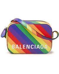 Balenciaga Ville Camera Xs Crossbodytas Met Logo - Geel