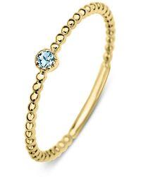 Diamond Point Geelgouden Ring 0.04 Ct Topaas Joy - Metallic