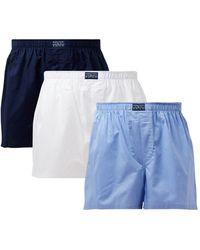 Ralph Lauren Boxershorts In 3-pack - Blauw