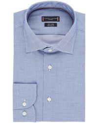 Tommy Hilfiger - Dobby Regular Fit Overhemd Met Jacquard Dessin - Lyst