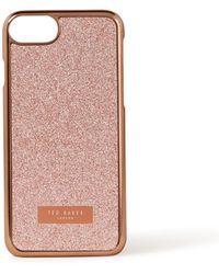 Ted Baker Glitter Telefoonhoes Voor Iphone 6 / 6s / 7 / 8 - Roze