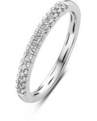 Diamond Point Witgouden Ring 0-18 Ct Diamant Ensemble - Metallic