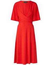 Ted Baker Midi-jurk Met Strikdetail En Cut-out - Rood