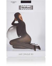 Wolford Mat Opaque Panty In 80 Denier - Meerkleurig