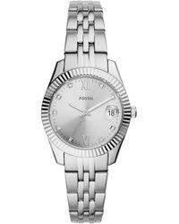 Fossil Scarlette Mini Horloge Es4897 - Metallic