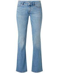 Denham Farrah Mid Waist Flared Fit Jeans Met Medium Wassing - Blauw