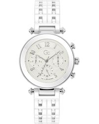 Gc Watches Prime Chic Horloge Y65004l1mf - Wit