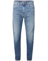 Calvin Klein Skinny Fit Jeans Met Faded Look - Blauw
