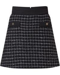 Sandro Minirok Van Tweed Met Lurex - Zwart