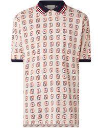 Gucci Regular Fit Polo Van Piqué Katoen Met Logodessin - Wit