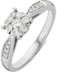 Diamond Point Witgouden Ring 0-35 Ct Diamant Enchanted - Metallic