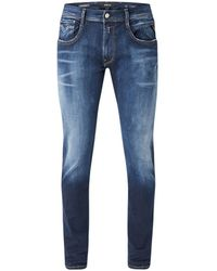 Replay Anbass Hyperflex Tapered Fit Jeans Van Biologisch Denim - Blauw
