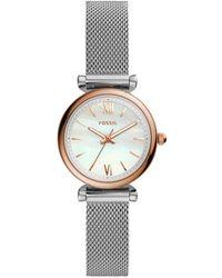 Fossil Carlie Mini Horloge Es4614 - Metallic