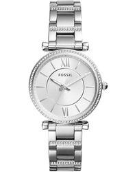 Fossil Carlie Horloge Es4341 - Metallic