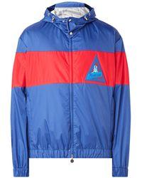 Moncler Windjack Met Colourblocking En Logo-applicatie - Blauw