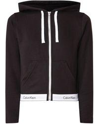 Calvin Klein Sweatvest Met Capuchon En Logoband - Zwart