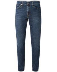 Calvin Klein Slim-fit Jeans In Middenblauwe Wassing