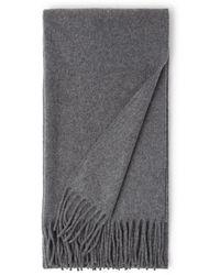 Acne Studios Canada Narrow Sjaal Van Wol 200 X 45 Cm - Grijs