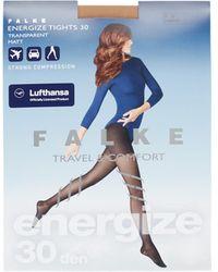 Falke Energize Panty In 30 Denier - Blauw
