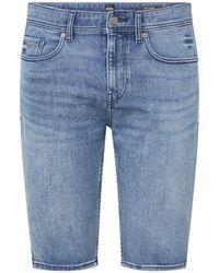 BOSS by Hugo Boss Taber Slim Fit Korte Jeans Met Stretch - Blauw