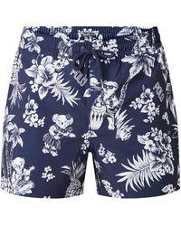 Ralph Lauren Traveler Zwemshorts Met Dessin - Blauw