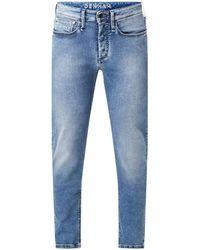 Denham Bolt Skinny Fit Jeans Met Medium Wassing En Stretch - Blauw