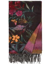 Fraas Cashmink Sjaal Met Bloemendessin 185 X 120 Cm - Meerkleurig