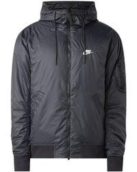 Nike Reversible Lichtgewatteerd Jack Met Capuchon - Zwart