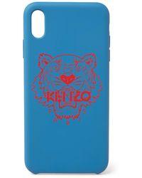 KENZO Tiger Telefoonhoes Voor Iphone X / Xs Max - Blauw