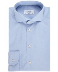 Eton of Sweden Super Contemporary Fit Overhemd Met Ruitdessin - Blauw
