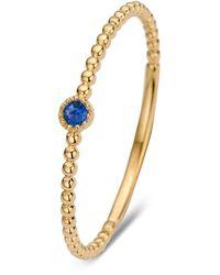 Diamond Point Geelgouden Ring 0-05 Ct Blauwe Saffier Joy - Metallic