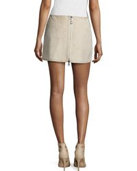 Kaufman Franco - Bonded Tissue-suede Mini Skirt - Lyst