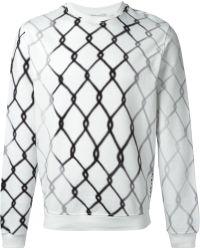 Carven Wire Fence Print Sweatshirt - Lyst