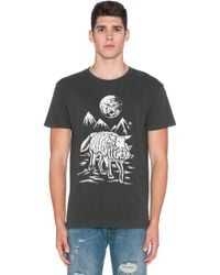 Obey Run To The Hills T-Shirt black - Lyst