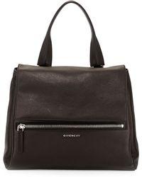 Givenchy Pandora Medium Waxy Flap Satchel Bag - Lyst
