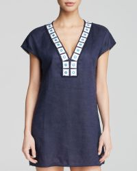 Tory Burch Linen Tunic Swim Cover Up - Lyst