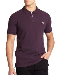 Paul Smith Regular-Fit Cotton Polo purple - Lyst