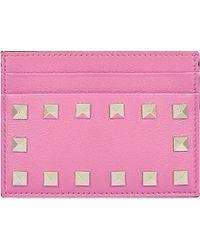 Valentino Studded Card Holder - For Women - Lyst