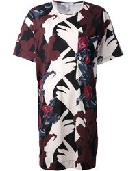 Carven Thin Jersey Printed Tdress - Lyst