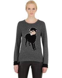 Beayukmui - Black Sheep Intarsia Wool Blend Jumper - Lyst