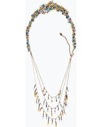 Zara Multicoloured Stones Necklace - Lyst