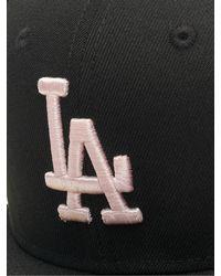 KTZ Männer Fitted Cap MLB LA Dodgers League Essential - Schwarz