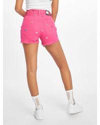 Tommy Hilfiger Frauen Shorts Hotpant Denim - Pink